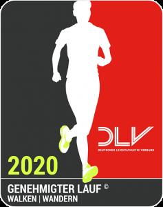 Genehmigter Lauf - DLV Logo